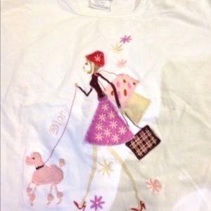 Christian Dior Boutique shopping girl tee sz S/M